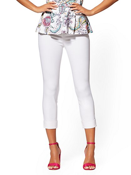 a6b1e5071525 Whitney High-Waist Pull-On Crop Pant - White - New York   Company ...