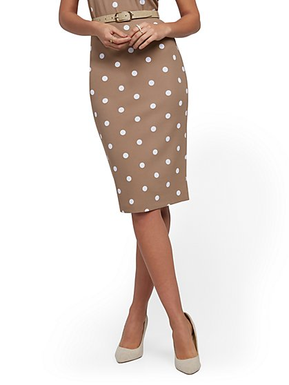 Whitney High-Waist Pull-On Pencil Skirt - 7th Avenue - New York & Company