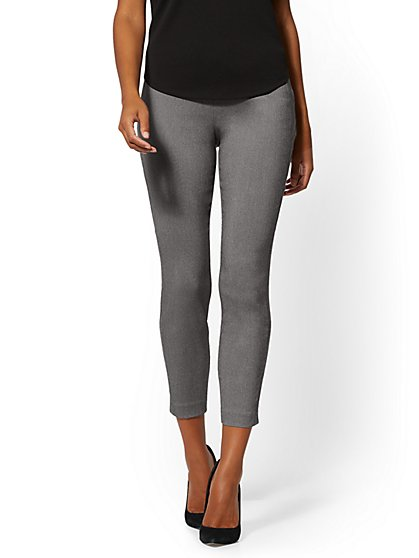 Whitney High-Waisted Pull-On Ankle Pant - Grey - New York & Company
