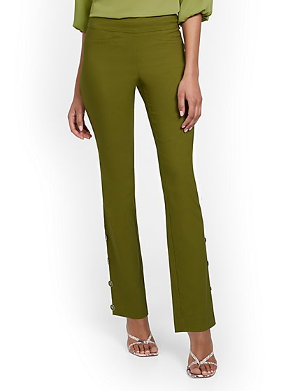 Whitney High-Waisted Pull-On Barely Bootcut Pant - New York & Company