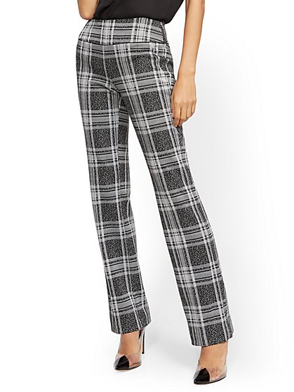 Whitney High-Waisted Pull-On Bootcut Pant - Ponte - 7th Avenue - New York & Company