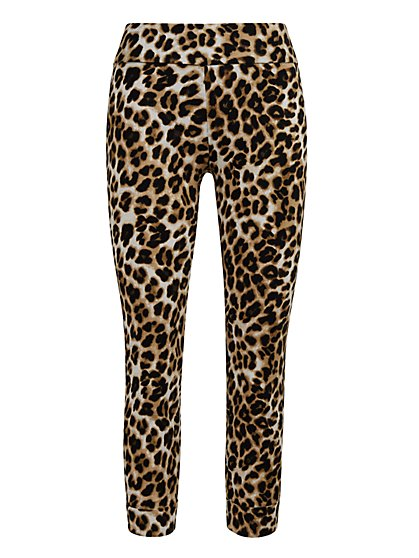 Whitney High-Waisted Pull-On Capri Pant - Leopard Print - New York & Company