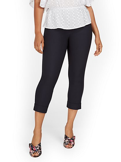 Whitney High-Waisted Pull-On Capri Pant - New York & Company