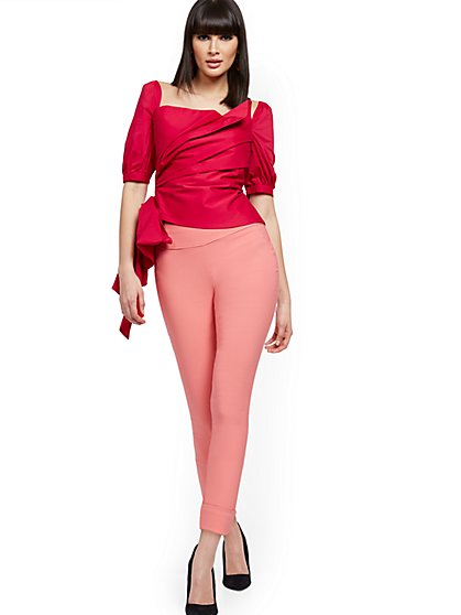 Whitney High-Waisted Pull-On Crop Pant - New York & Company