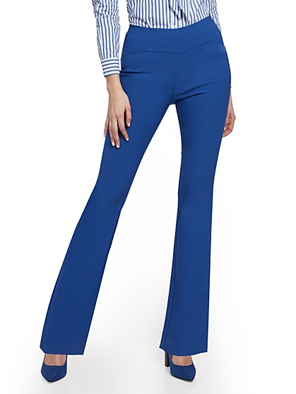 Whitney High-Waisted Pull-On Curvy Bootcut Pant - 7th Avenue - New York & Company