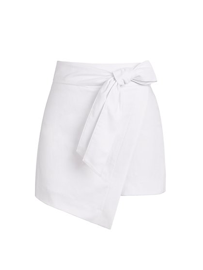 Whitney High-Waisted Pull-On Skort - 7th Avenue - New York & Company