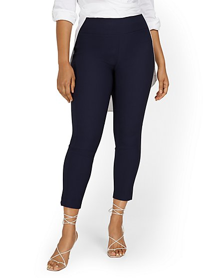 Whitney High-Waisted Pull-On Slim-Leg Ankle Pant - New York & Company