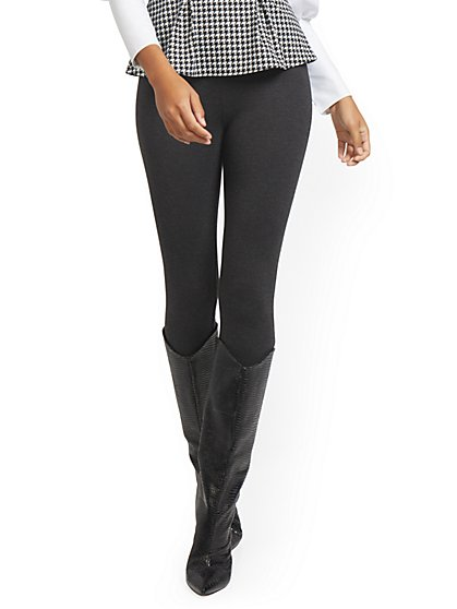 Whitney High-Waisted Pull-On Slim-Leg Pant - Ponte - 7th Avenue - New York & Company
