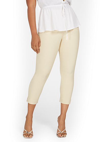 Whitney High-Waisted Tummy Control Pull-On Slim-Leg Capri Pant - New York & Company