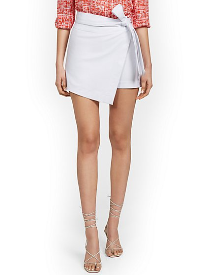 Whitney Side-Tie Skort - New York & Company