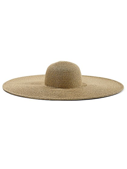 Wide-Brim Raffia Hat - Gabrielle Union Collection - New York & Company