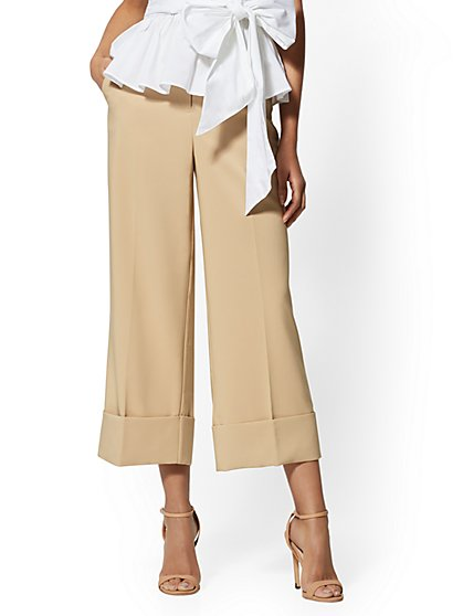 Wide Cropped Cuffed Pant - New York & Company