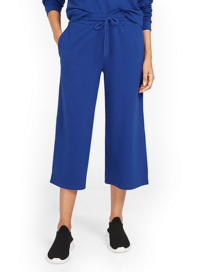 Wide-Leg Drawstring Capri Pant - New York & Company