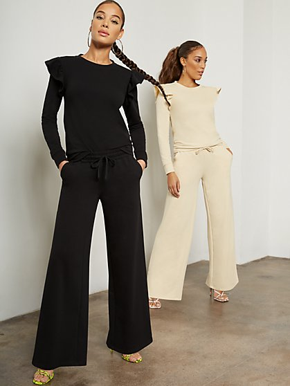 Wide-Leg Drawstring Lounge Pant - New York & Company