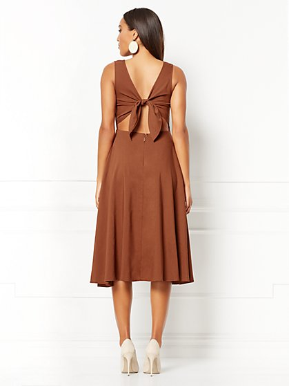 a3759b17f808 ... Winona Tie-Back Linen Flare Dress - Eva Mendes Collection - New York    Company ...