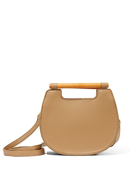 Wooden-Handle Crossbody Bag - New York & Company