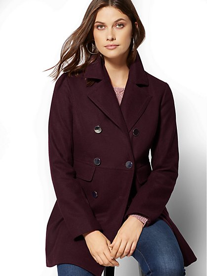 Wool-Blend Pea Coat - New York & Company