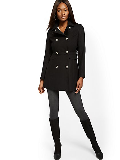 Wool-Blend Peacoat - New York & Company