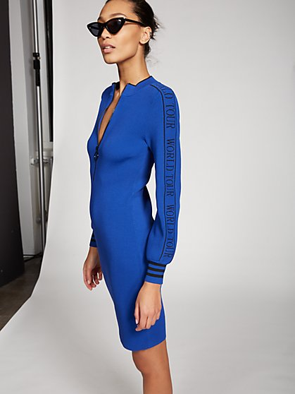 World Tour' Zip-Front Sweater Dress - Gabrielle Union Collection - New York & Company