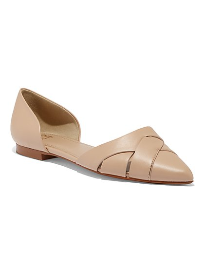 Woven Pointed-Toe Flat - New York & Company