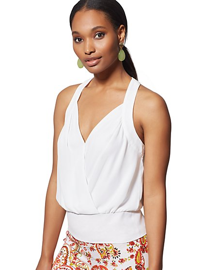 Wrap Halter Blouse - 7th Avenue - New York & Company