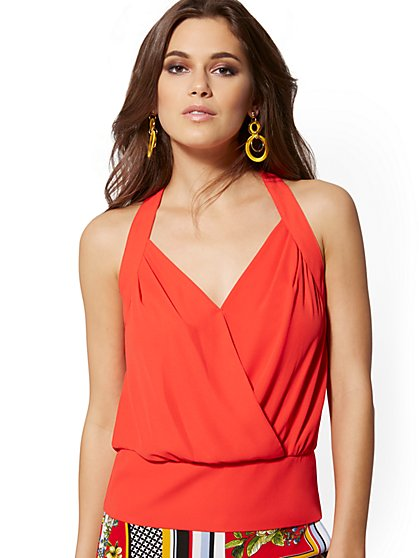 Wrap Halter Top - 7th Avenue - New York & Company