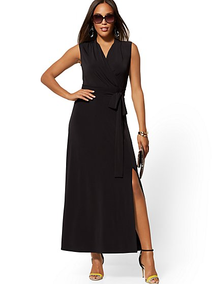 3dc617bd7740 Wrap Maxi Dress - 7th Avenue - New York & Company ...