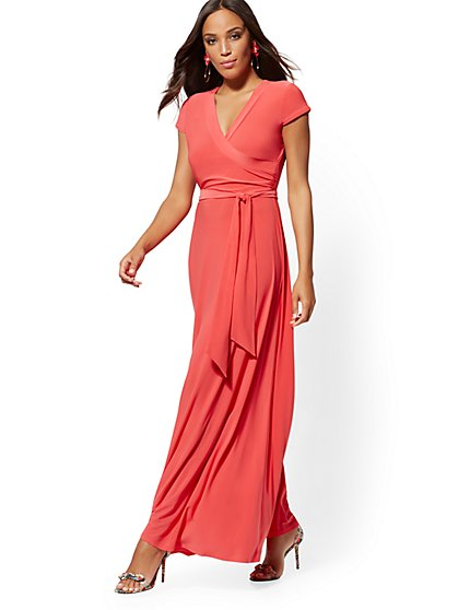 9394e4d44e408 Wrap Maxi Dress - New York & Company ...
