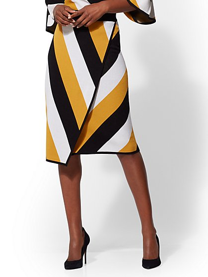Wrap Pull-On Pencil Skirt - New York & Company