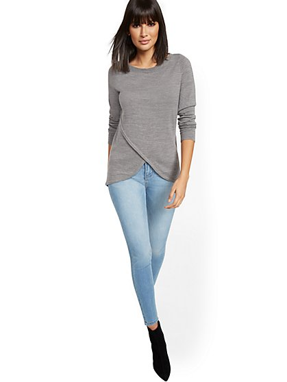 Wrap Tunic Sweater - New York & Company