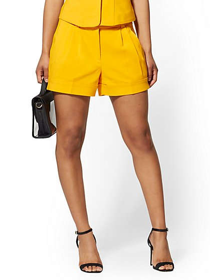 Yellow Cuffed 4 Inch Short - All-Season Stretch - 7th Avenue - New York & Company