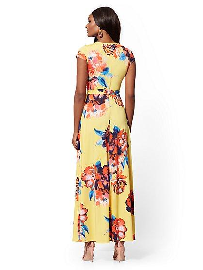 2ae98982d7b18 ... Yellow Floral Wrap Maxi Dress - New York   Company ...
