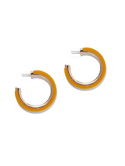 Yellow Hoop Earring - New York & Company