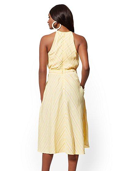 0a5f7a4662f9 ... Yellow Stripe Linen Halter Dress - New York   Company ...