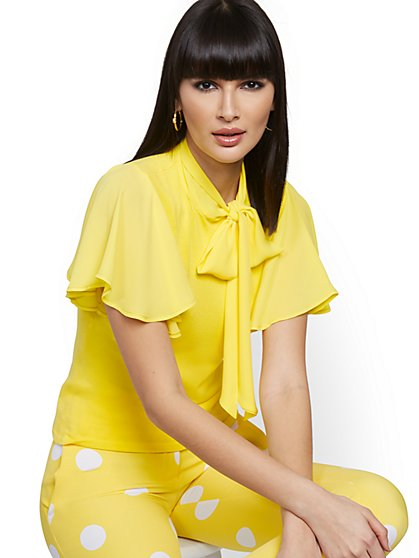 Yellow Twofer Top - 7th Avenue - New York & Company