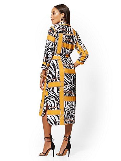 69c3a0eab94f ... Zebra & Link Print Midi Shirtdress - New York & Company