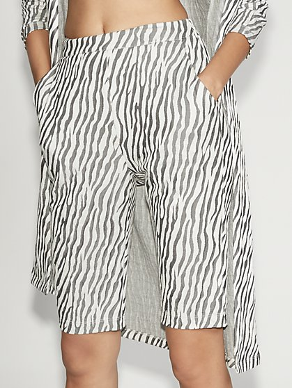 Zebra-Print Bermuda Short - Gabrielle Union Collection - New York & Company