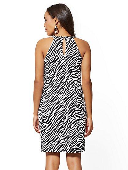 6d74a01d7945f3 ... Zebra-Print Cotton Halter Shift Dress - New York   Company