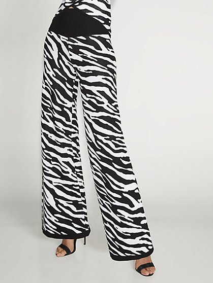 Zebra-Print Palazzo Pant - Gabrielle Union Collection - New York & Company