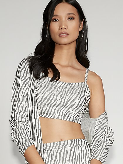 Zebra-Stripe Bustier Top - Gabrielle Union Collection - New York & Company