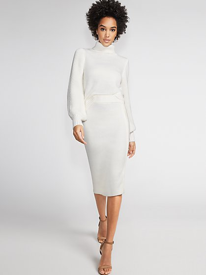 Zip-Accent Sweater Skirt - Gabrielle Union Collection - New York & Company