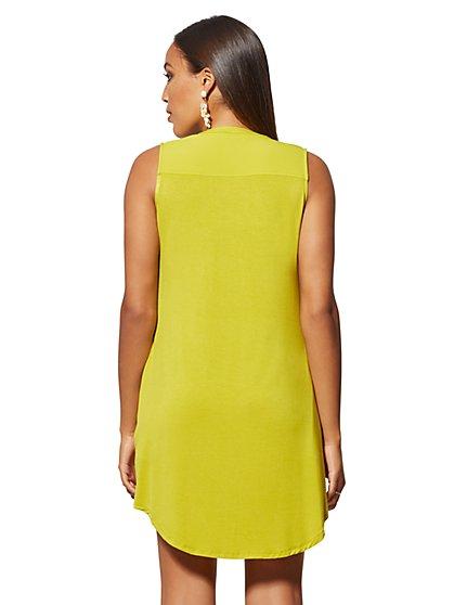 476dc264db79f ... Zip-Front Shirt Dress - New York & Company ...