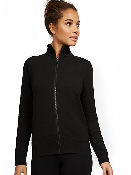 Zip-Front Yoga Jacket - New York & Company