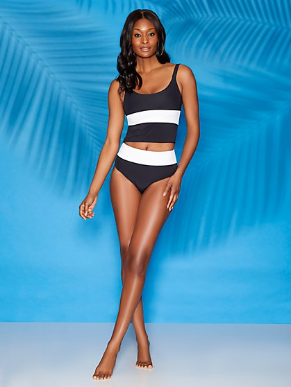 Zola High-Waist Bikini Bottom Sweet Pea Swimwear - New York & Company